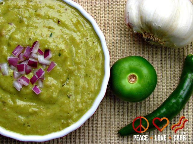 roasted tomatillo avocado salsa verde more low carb avocado salsa ...