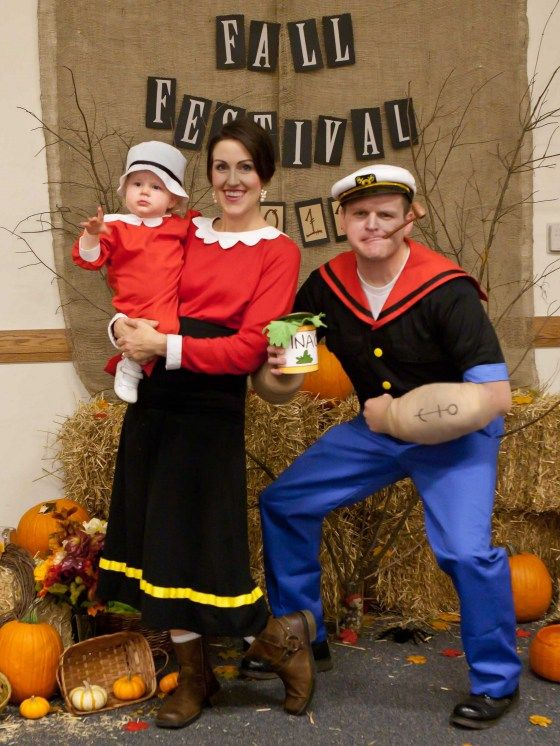 Popeye, Olive Oyl and Sweet Pea