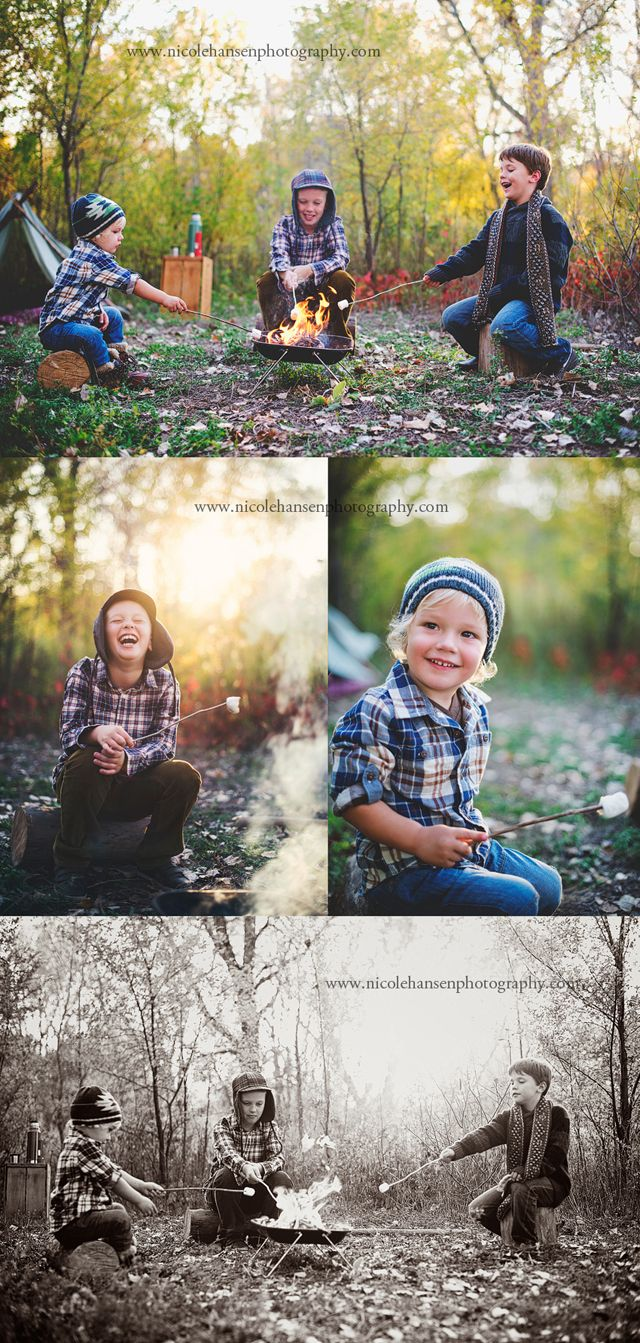 I love this camping session- perfect idea for a boys themed shoot. #photogpinspiration