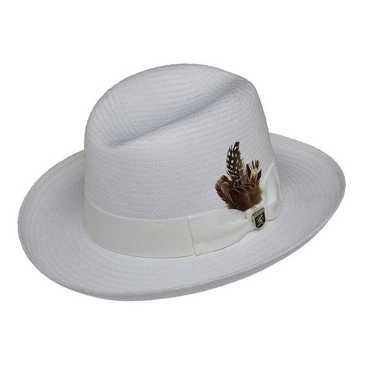 Stacy Adams Toyo Homburg Hat - Men, Size: Medium, White