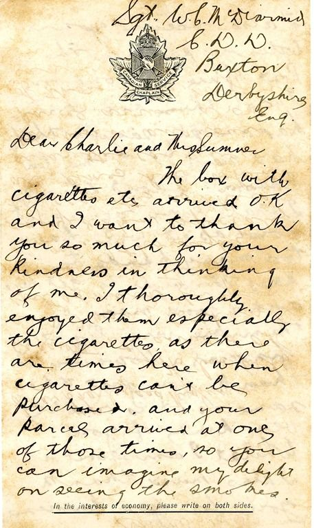 World War 1 A Letter From The Trenches WW1