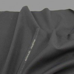 Stretch Twill Selvage Wool – Black
