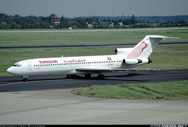 Boeing 727-2H3/Adv, Tunisair, TS-JHS, cn 21234/1209. Dusseldorf, Germany, 29.5.1992.