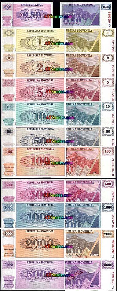 slovinia currency | ... - Slovenia paper money catalog and Slovenian currency history