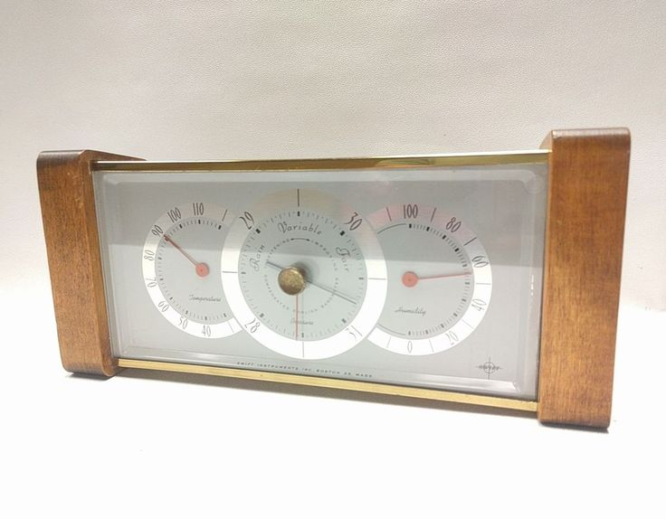 VINTAGE Mid Century Modern Swift Instruments Desktop Weather Station Barometer  | Collectibles, Science & Medicine (1930-Now), Scientific Instruments | eBay!