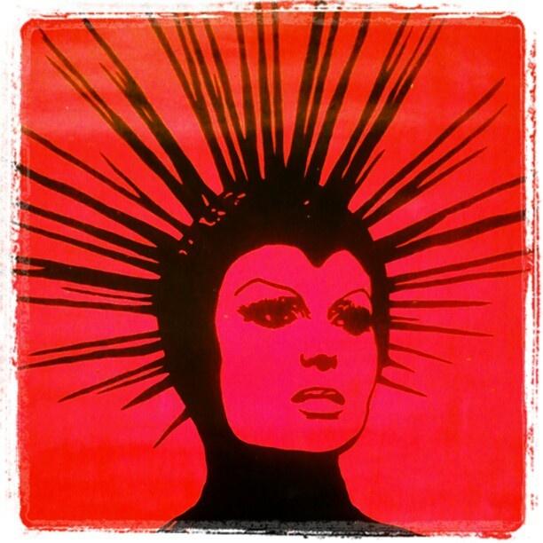 "@slinky_sleer's photo: ""#stoned #hotpink #art #mypainting"""