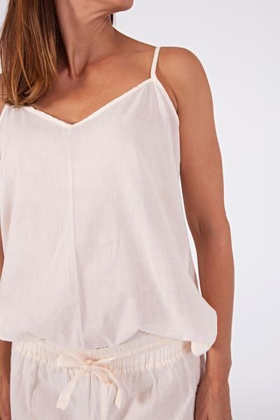 woven cotton camisole, (available in three shades) $29 www.sassind.com