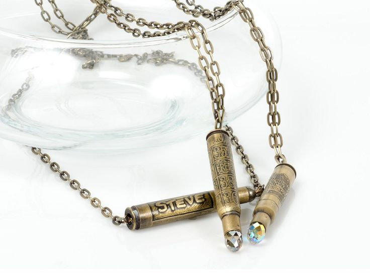 GREAT tutorial for etched bullet casing necklaces.