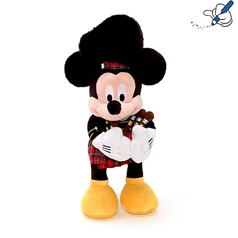 Mickey Mouse Scottish Bagpipe Soft Toy - Disney Store UK