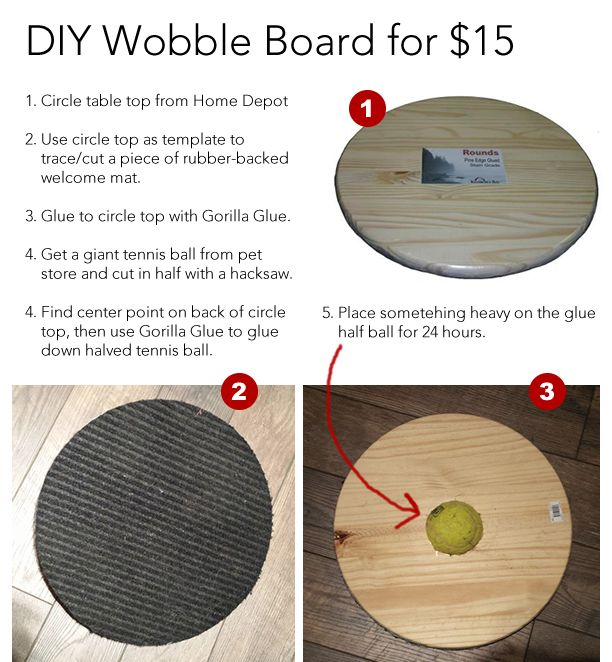 Diy Wobble Board For Less Than 15 Dogs Pinterest