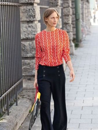 01e5cfb1169 Блуза - выкройка № 109 из журнала 8 2012 Burda – выкройки блузок на  Burdastyle.ru