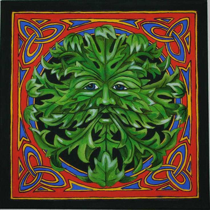 Celtic Greenman Armband: Celtic Green Man