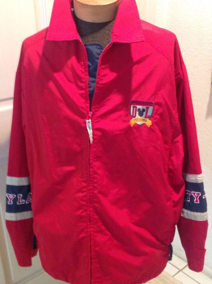 Disneyland 55 Years Red Lined Waterproof Jacket Size 2XL