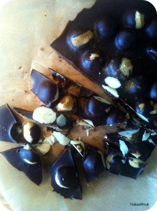 Chokoladebrud med macadamia og lakrids