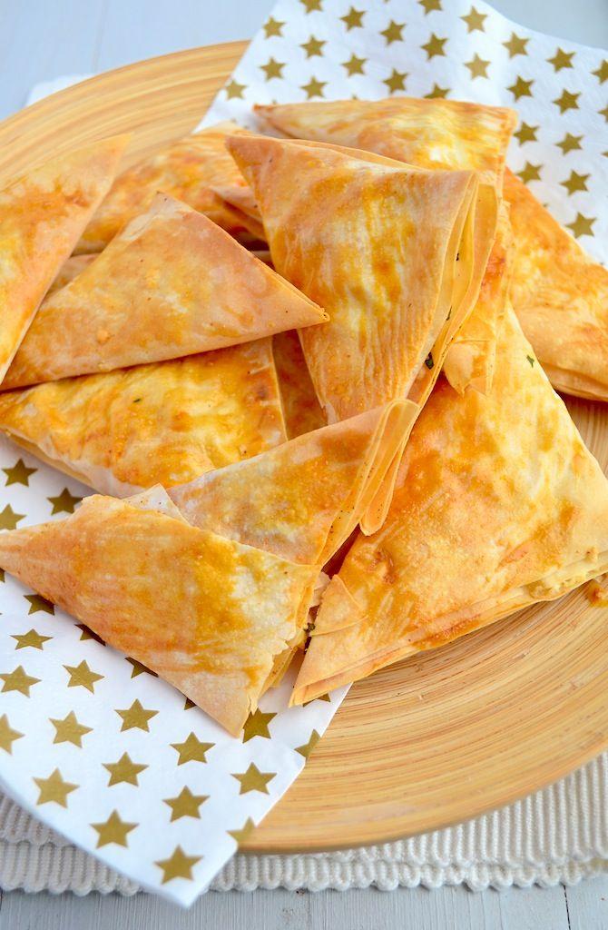 Filodeeghapjes met feta #bites #pastry
