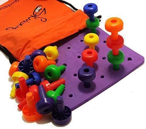 Fine Motor Toys : Peg board set montessori occupational therapy fine motor