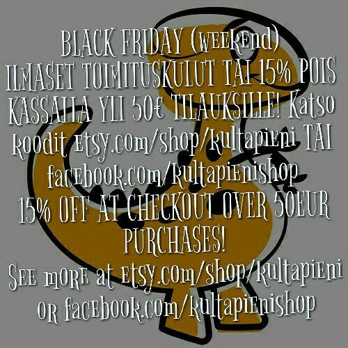 BLACK FRIDAY (weekend) CONTINUES! Ps. WE SHIP WORLDWIDE!!