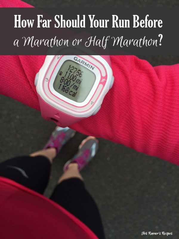 How far should you run before a half marathon or marathon? The answer depends on your fitness, schedule, goals, and training philosophy.