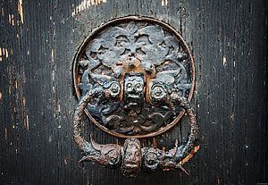Door Photograph - The Knocker by Ryan Wyckoff