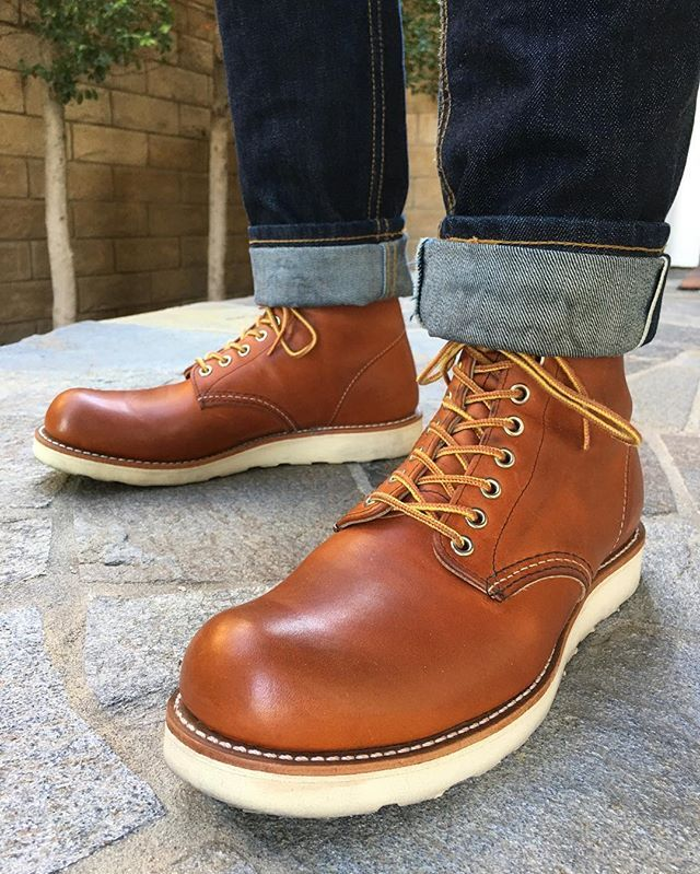 Denim boots, Red wing shoes
