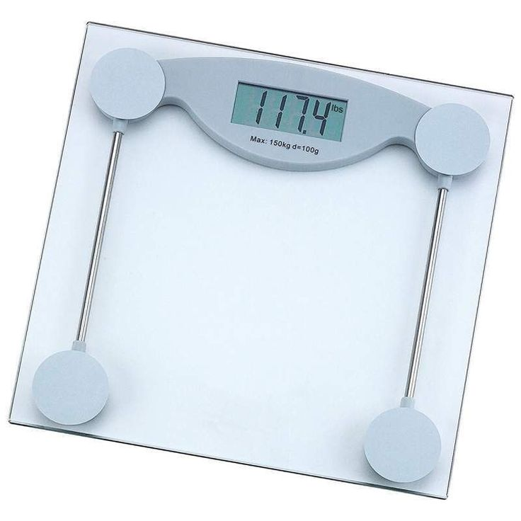 330lb Electronic Body Weight Scale Tempered Glass LCD Digital Bathroom  Battery