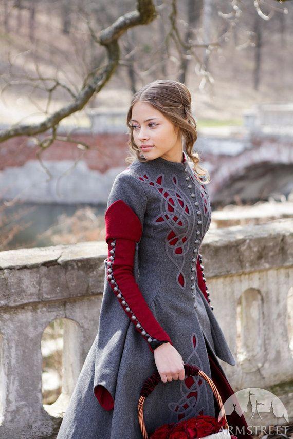 Little Red Riding Hood Coat Costume woolen gray coat by armstreet