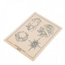 Large Tattoo Practice Skin A4 Size (Flower + Sun)