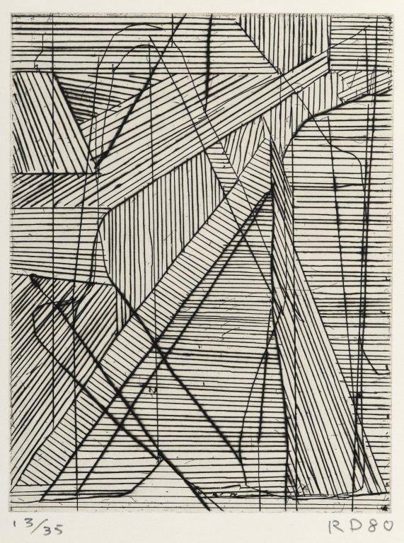 Richard Diebenkorn / Irregular Grid / 1980 / Drypoint and hard-ground etching