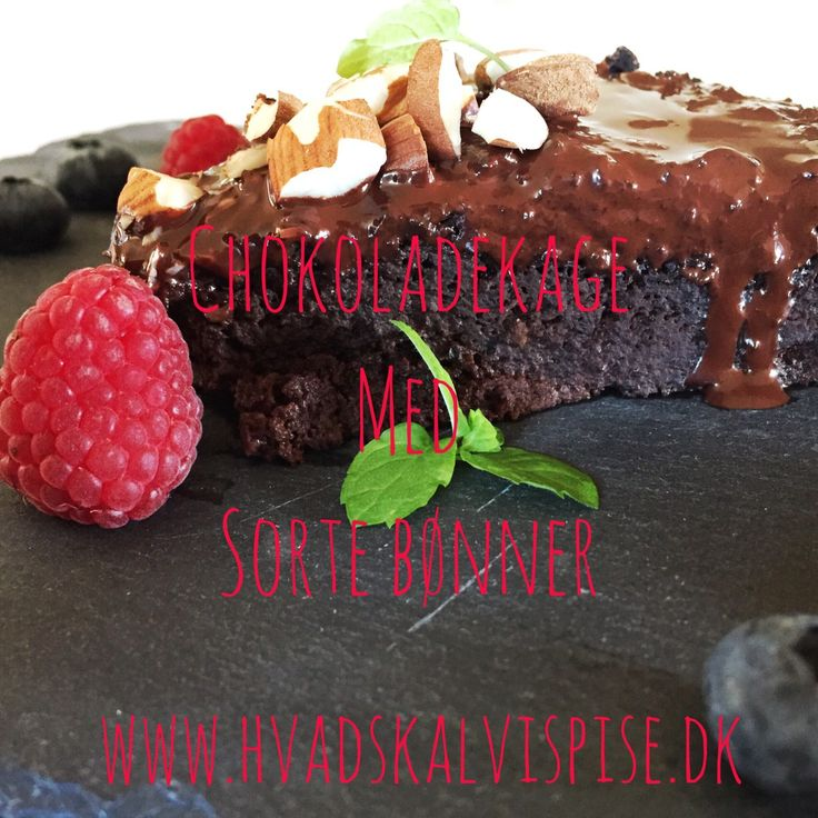 Lækker chokoladekage med sorte bønner.  – Uden gluten – Uden tilsat…