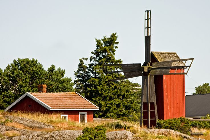 A windmill on the island of Nötö, länsi-Turunmaa, Finland