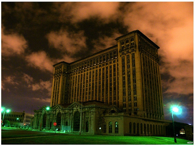 The Detroit's Abandoned Train Station by Demodragon, via Flickr