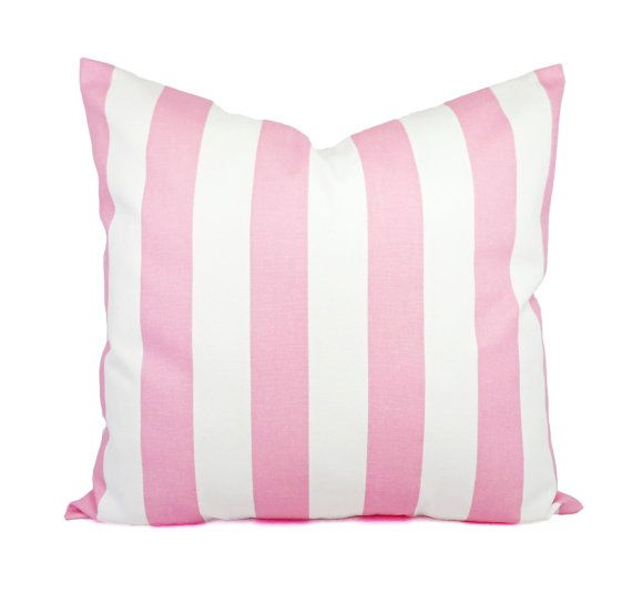 Light Pink Pillow  Two Pink Pillow Covers  by CastawayCoveDecor