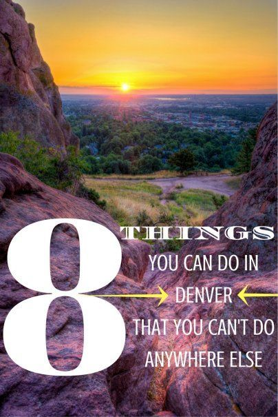 The Mile High City is known for that (literally and figuratively), but there are plenty of other unique Denver Activities for you to experience.