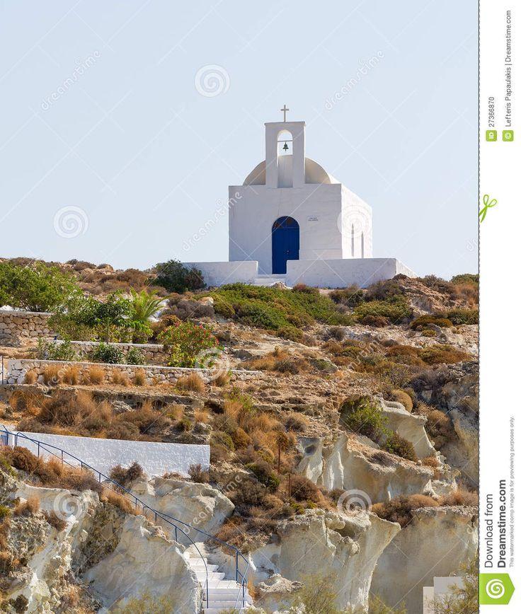 Gaia Varvara church, Kimolos, Greece.