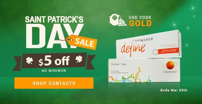 Save on St Patricks Day $5 off http://couponscops.com/store/quicklens #quicklens #couponscpos #st_patricks_day_2017  #lens #eyewear #AcuvueFocus #Freshlook #Soft_lens #Biomedics #maxieyes #Daily_contact_lenses #LACELLE_DIAMOND QuickLens Coupon Codes 2017, QuickLens 2017 Promo Codes, QuickLens Discount Code, QuickLens Voucher Codes, CouponsCops.com