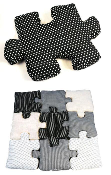 Almohadones de puzzle   Manualidades de hogar