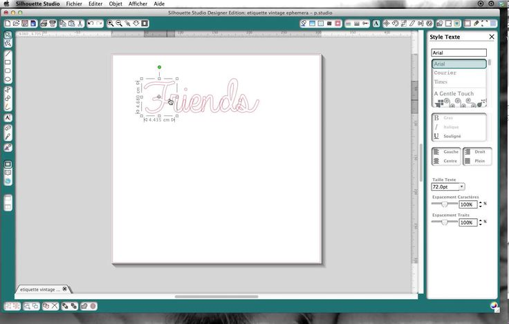 comment faire ses titres en écriture attachée avec le logiciel Silhouette Studio