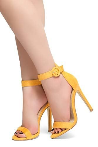 d2fd71083f48 Herstyle Charming Ankle Strap Rounded Buckle Open Toe Stiletto Heel. -  Mudii Boutique