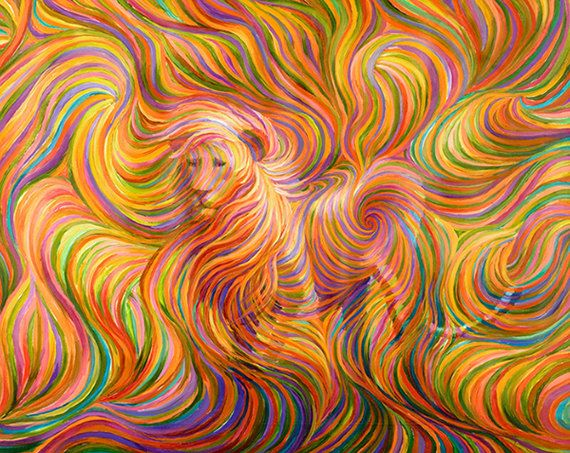 Lion Spirit Guide Painting by EnergyArtistJulia on Etsy, $48.00
