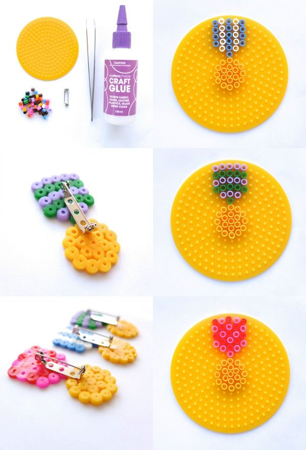 How To: Hama bead Medal Brooch --> Give yourself a Medal ▽▼▽ My Poppet : your weekly dose of crafty inspiration