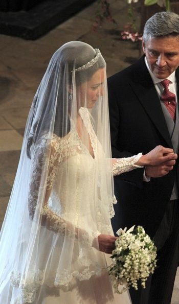 Kate Middleton At Her Wedding To Prince William Of Wales Gown By Sarah Burton
