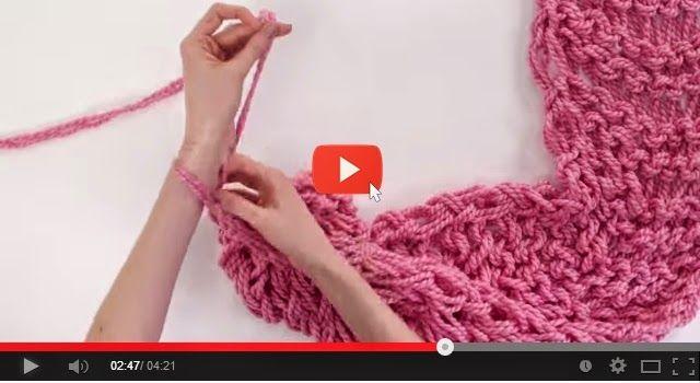 Vídeo Passo a passo => Aprenda Fazer Gola Capuz de Trico  ~ Artesanato na Pratica