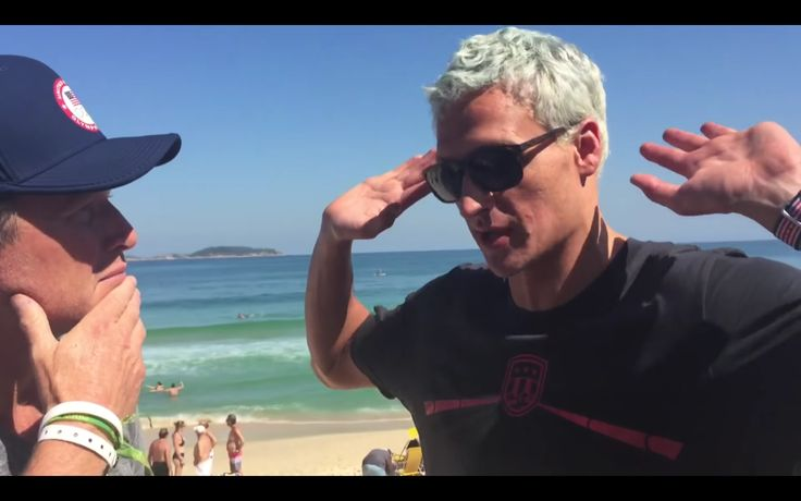 PEOPLE IN THE ACT OF LYING - Ryan Lochte claiming to have been robbed by Police in Rio