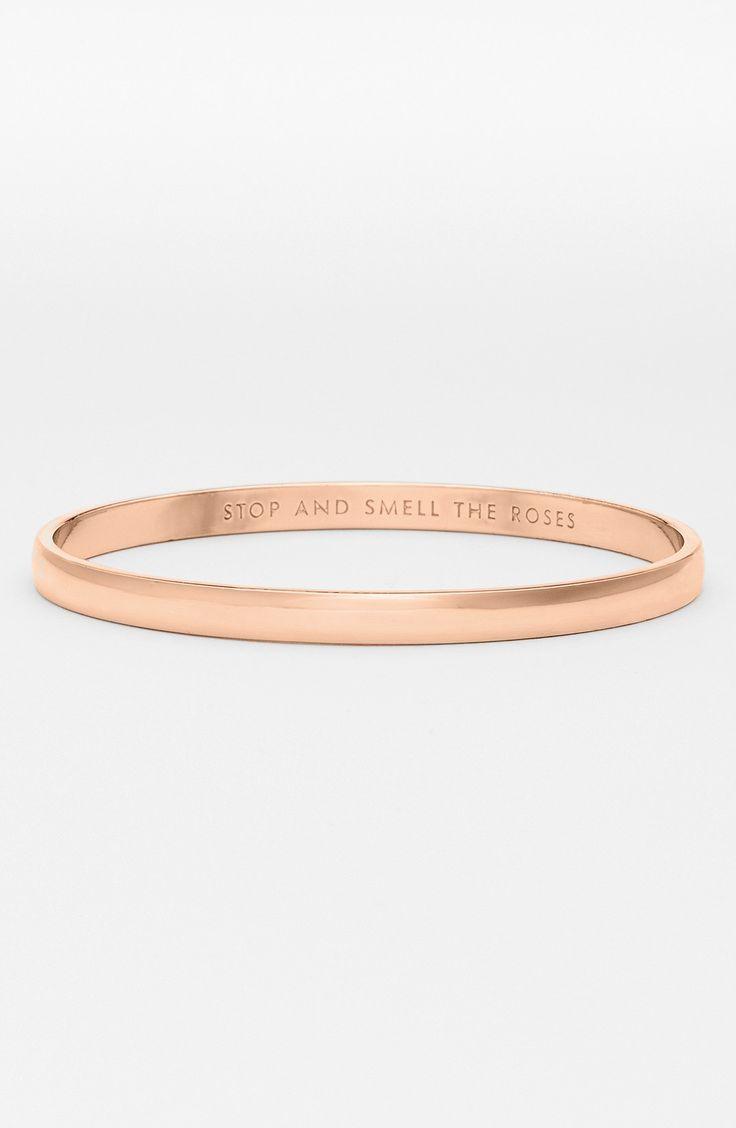 kate spade new york 'idiom - stop and smell the roses' bangle. $32- Nordstrom