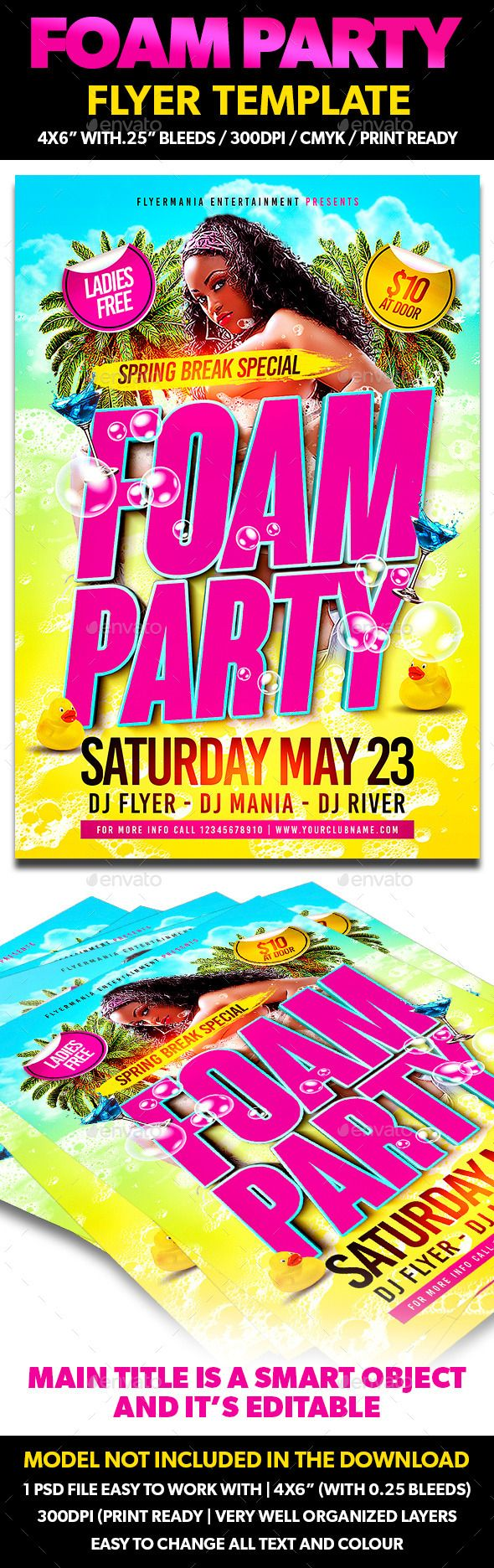 Best The Rig Images On   Foam Party Party Flyer And
