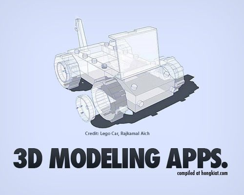 25 3D Modeling Apps...no longer just for the computer scientist.