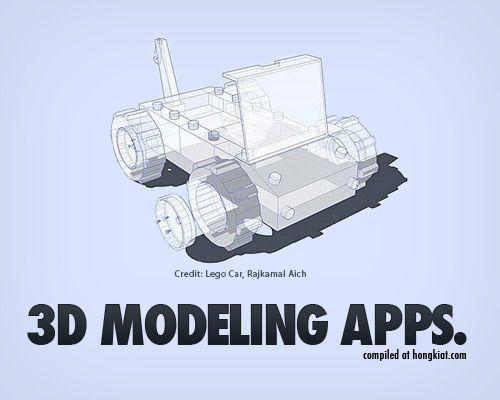 25 Aplicaciones de modelado (gratuito) en 3D que no debe perderse