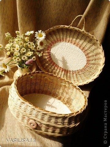 Поделка изделие Плетение плетение Бумага газетная фото 1