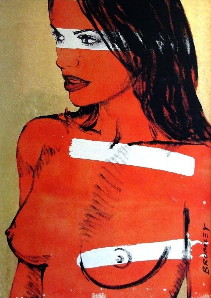 DAVID BROMLEY Nude  Chelsea  Original Polymer & Gold Leaf 120cm x 80cm