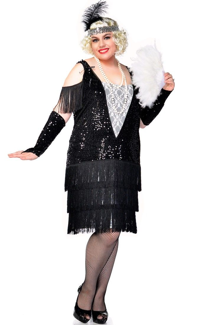 Sexy Gatsby flapper girl women's plus size 1920's costume. This top quality plus size flapper costume by Elevate Costumes Australia will help you relive the roaring 20's at your next flapper fancy dress costume party. See below for full description and size details.